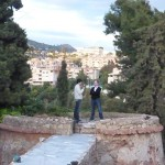 MinHyeok and Greg on top of Castillo de Santa Catalina