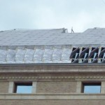 Roof panels which double as windows